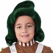 Child Oompa Loompa Wig Fancy Dress Chocolate Factory Costume Accessory