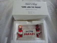 "Dept 56 Snow Village: ""Come Join The Parade""! Nib! #5411-9"