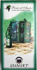 Picnic at Ascot, Deluxe Wine Carrier with Glasses