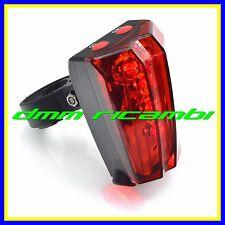 Fanalino posteriore a 7 led Bici MTB BDC SINGLE SPEED Bicicletta luce rossa faro