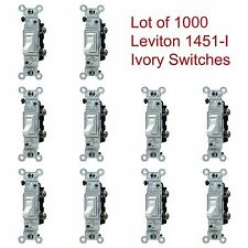 LOT of 1000 LEVITON Ivory Framed Toggle Wall Light Switches 15A 120V 1451-I NOS