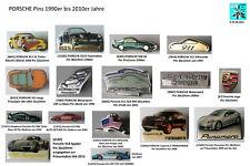PORSCHE Pins 1990er bis 2010er Jahre AUSSUCHEN