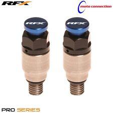 HONDA CR125 CR250 CRF250 CRF450 - RFX FORK AIR BLEEDERS STAINLESS / BLUE