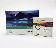 Lee Filters titular de la Fundación Kit + Anillo Adaptador 49mm de ancho. nuevo