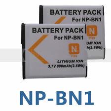 2X Battery for Sony Cyber-shot DSC-W710 DSC-W730 DSC-W800 DSC-W810 W830 DSC-TF1
