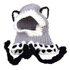 Warm Knitted Fox Cat Ear Hat Hooded Scarf Earflap Beanies Winter Baby Toddler