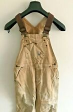 Carhartt Dungarees Womens W30 L22 Dark Brown Overalls Grade C Uk Size 10