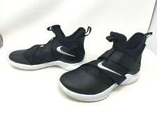 Mens Nike (AT3872-001) LeBron Soldier 12 TB Black sneakers (449G-i and 448G-H)
