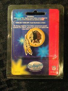 NFL Washington Redskins Flashing Pendant/Necklace or Pin Vintage NEW