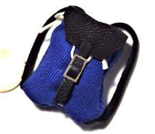 Rucksack blau Miniatur Tasche 1:12 Puppenstube Puppenhaus Diorama