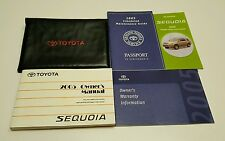 2005 TOYOTA SEQUOIA OWNERS MANUAL SR5 LIMITED 4X4 2WD OFF ROAD SPORT V8 4.7L