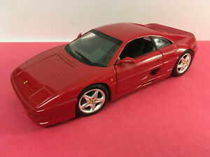 Hot Wheels Mattel Diecast 1998 Red Ferrari F355 Berlinetta 1:18 Scale