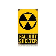Vintage Style Retro Fallout Shelter Sign 8 in. x 14 in.