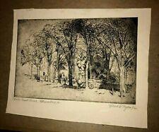 WILLARD MYERS (1887-1964) Original Etching PENCIL SIGNED Bruton Parish Church