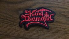 KING DIAMOND,SEW ON RED EMBROIDERED PATCH
