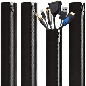 Cable Management Cable Sleeves - 4 Cable Sleeves with Cable Management for PC