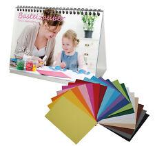 DIY Set: 1x Bastelzauber Tischkalender A5 OHNE Kalendarium und 20x farbenfroher