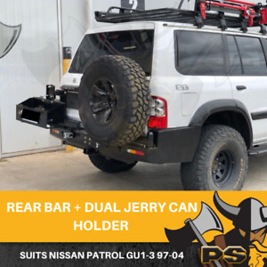 Rear Bar Spare Wheel Carrier Dual Jerry suit Nissan Patrol GU 1 2 3 1997-2004