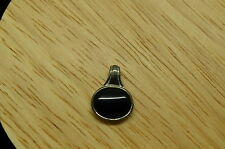 SILVER PLATED OVAL ONYX PENDANT CHARM #X12832
