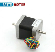 New Nema17 Stepper Motor 78oz-in 48mm 1.8A Dual Shaft For CNC Router/3D Printer