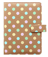Filofax Personal Size Organiser Diary - 'Patterns' Pastel Spots 027042