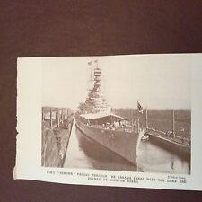a4c ephemera 1930s picture h m s renown panama canal