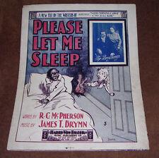Please Let Me Sleep/McPherson-Brymn/1902/Black Americana Man Sleeps Through Fire