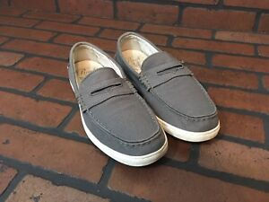 Cole Haan Canvas Loafers Gray Size 7.5