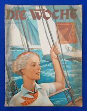 DIE WOCHE 1932 Heft 25: Mussolini / Straßenbau / Salpeter-Krise in Chile