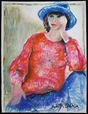 Judith BLEDSOE, Original Pastel Drawing, Jill as a Tomboy, Signed