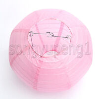 8 Pcs Pink Round Paper Lanterns Lamp Birthday Wedding Party Home Decoration 12""