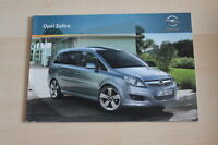73711) Opel Zafira Prospekt 12/2010