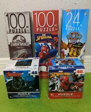 Boy's Puzzle Bundle Avengers Spiderman Paw Patrol Jurassic World