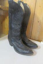 Vintage JUSTIN Women's 6 1/2 B black   Western COWBOY BOOTS NICE USA made