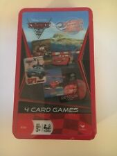 Disney Pixar CARS - 4 Card Games in Collectible Decorative Tin Factory Sealed