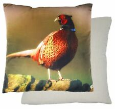 "FILLED PHEASANT ORANGE RED 17"" - 43CM CUSHION"