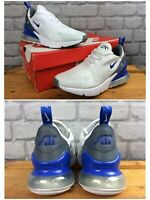 NIKE UK 5 EU 38 AIR 270 WHITE BLUE GREY TRAINERS CHILDRENS LADIES RRP £90 K
