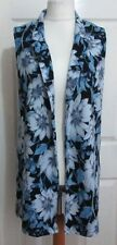 Knee Length V-Neckline Floral Coats & Jackets for Women