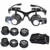 Lupenbrille Brillenlupe Uhrmacher Lupe 10X15X20X25X Vergrößerungsglas Lupe Neu