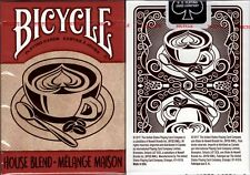 House Blend Bicycle Playing Cards Poker Size Deck USPCC Coffee Custom Limited