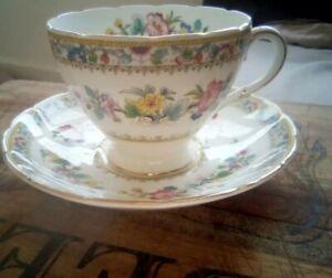 """Foley Bone China """" Ming Rose """" Tea Cup & Saucer"""