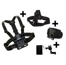 Set of 3 pcs Chest Strap + Head Strap + Wrist Mount for SJ4000 SJ6000 Action Cam
