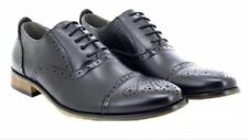 GOOR MEN'S TOE CAPPED BOGUE SHOE BLACK - WORN ONCE IMMACULATE CONDITION!! SIZE 9