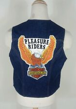 Vtg 70's Motorcycle Club Denim Biker Vest Jacket W/ Patch Hippie Gypsie Harley