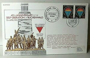 1985 German Cover Commemorating 40th anniversary Liberation Of Buchenwald