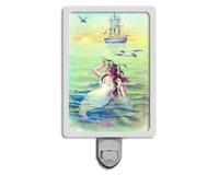 Beautiful Mermaid Vintage Style Ocean Nautical Night Light