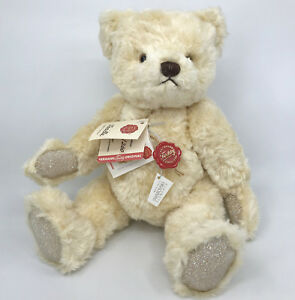 Hermann Teddy Bear Vanilla 100% Silk Plush Limited Ed 400 ID Tags Cert Orig Box