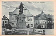 Czech Republic postcard Tabor Namesti se zizkovym pomnikem street scene