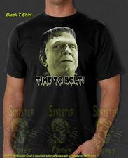 Frankenstein Time to Bolt Halloween Monster Creature Horror New T-Shirt S-6X