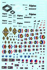 Decalbogen Renault Alpine 1:18-24-32-43 (300)